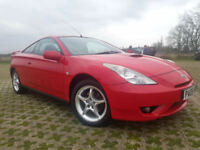 Toyota Celica 1.8 VVT-i Premium & Style 3d, Black Leather, Full Service history.