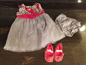 Silver Dress with Polka Dot Baby Gap Shoes - 9-12M