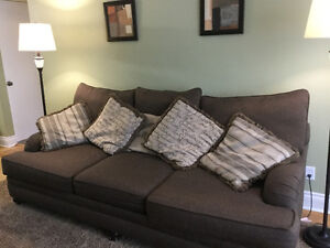 Wide comfy couch