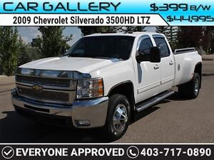 2009 Chevrolet Silverado 3500HD LTZ DUALLY CREW w/Sunroof, Leath