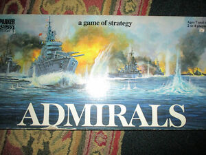 Admirals a game of strategy board game