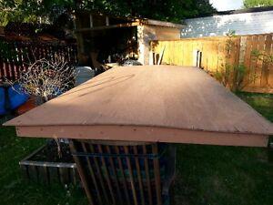 ideal balancoire en bois ou projet de camping toit en bois 4 x8