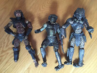 Predator, Alien, horror movie and action figures