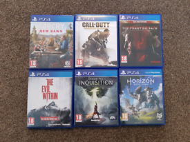 Job lot ps4 games COD, metal gear solid, horizon, evil within
