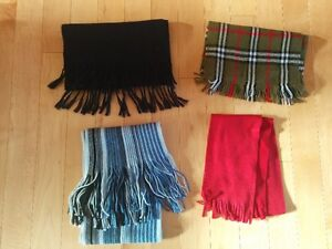 Winter scarves.