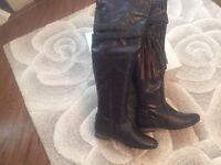 Faith dark brown boots