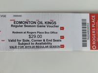 Oil King Vouchers - Price Reduced - Regular Season