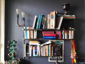 Custom Black Iron Pipe Bookshelf