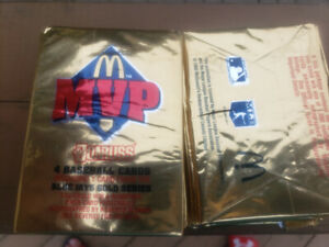 1992 Donruss McDonalds unopened packs of cards