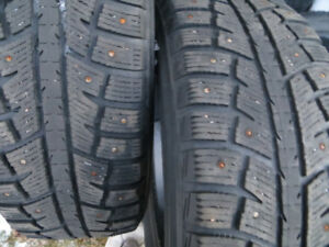 2 P225/65R17 STUDDED WINTER TIRES $130.00 FOR BOTH