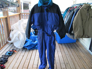 columbia womens large snowsuit  blue and black