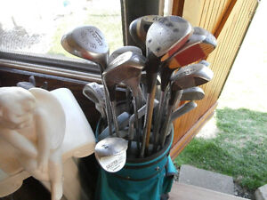 1 bag of golf clubs left by old owner of house.asking $55  514-8
