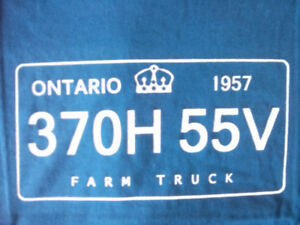 T  Shirt  License Plate  Ontarioread it upside down
