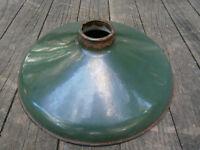 """Vintage Green Porcelain Enamel Industrial 12"""" Shade"""