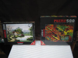 2 jig saw puzzles arbon cottage+dancing with colors $10both