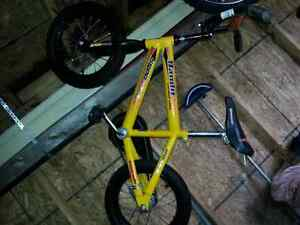 Boys Small Yellow and Black BMX bike