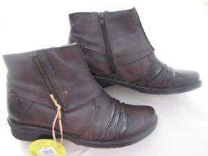 Brown Earth Spirit Leather Boots size 8.5 (8 1/2 )