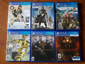 PS4 Games - Individually or Together