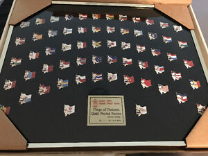 1988 Calgary Olympic Flags of Nations collectible pins