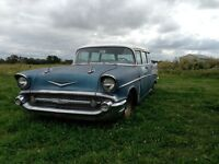 4 door 57 Chevy belair wagon