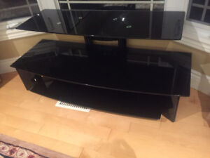 Glass tv stand-excellent condition