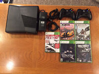 XBOX 360 - 250 GB hard drive plus games for sale