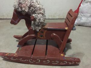 Cheval à bascule fait a main / Hand made Rocking Horse