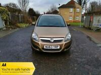 2013 Vauxhall Zafira 1.8 i VVT 16v Exclusiv 5dr +Disable Wheel Chair +Low Miles