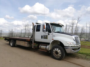 Flat Deck Tow Truck Available