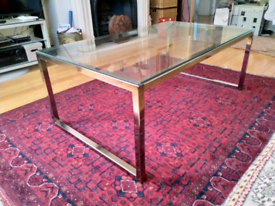 Very stylish glass and chrome coffee table