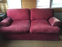 M&S Red fabric 3 seater sofa