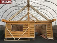 Eco Friendly - Pine Beetle Wood Timber Cabin -Colors Are Amazing