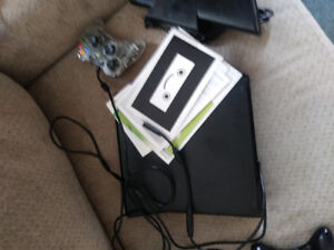 Xbox 360 with kinect and 15 games and 2 controllers
