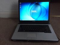Toshiba L300 160GB 3GB Windows 7 laptop