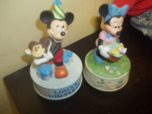 Micky Mouse  Music boxes and OTHER collectibles...