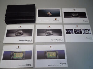 PORSCHE CAYENNE, CAYENNE S OWNERS MANUALS COMPLETE SET