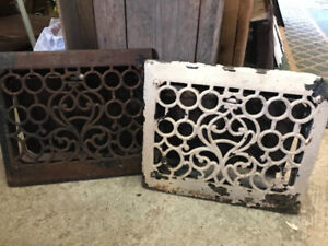 Floor Wall Grates Antique Vintage Many sizes and designs decor