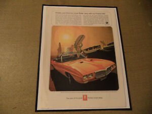 OLD FIREBIRD CLASSIC CAR FRAMED AD Windsor Region Ontario image 1