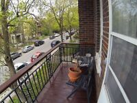 2 bedrooms in 7 1/2 Outremont for the summer
