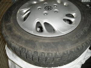 winter tires on rims for new Beetle or Golf195/65/R15/91H