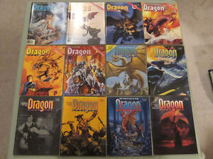 Collection of 12 Vintage Dragon Magazines $2.50 each $25 for all