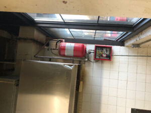 Restaurant Stove Hood with Fire Suppression and intake