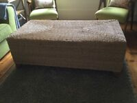 Laura Ashley rattan coffee table/ blanket box, conservatory furniture