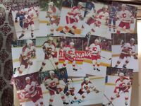 CALGARY FLAMES PLAYERS POSTCARDS.