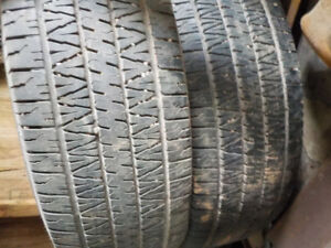 2- Firestone wilderness LE 265/70/16 tires
