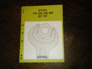 Stihl FE 35, 40, 55 and EC 70 Electric Trimmers  Service Manual