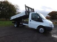 2009 FORD TRANSIT single cab alloy 1 stop tipper