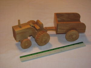 Hand-crafted Wooden Farm Tractor and Trailer model Edmonton Edmonton Area image 1