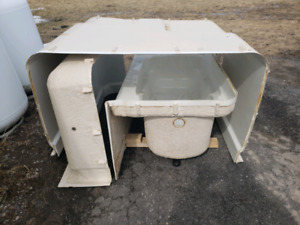 3pc Tub Suround for Cottage or Hunting camp.
