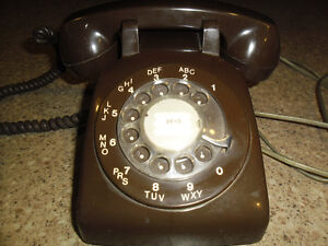 Northern Telecom Vintage Chocolate coloured Rotary Phone